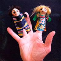 Estimula su imaginación con marionetas de dedo